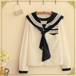 Fairyland - Long-Sleeved Sailor Blouse