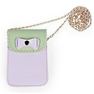 Exull - Contrast-Color Scalloped-Trim Phone Case