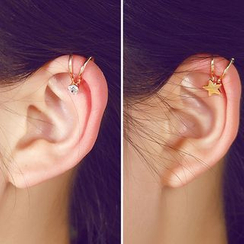 Aokuna - 仿珍珠袖口耳環
