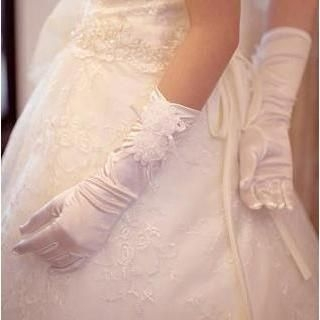 Luxury Style - Rosette Bridal Gloves