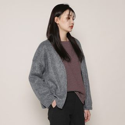 Envy Look - Open-Front Knit Jacket