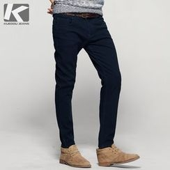Quincy King - Brushed Fleece-Lined Straight-Fit Casual Pants