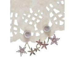 kitsch island - Rhinestone Faux-Pearl Earrings