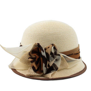 Momiton - Corsage-Accent Straw Hat
