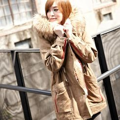 Tokyo Fashion - Drawstring-Waist Hooded Parka