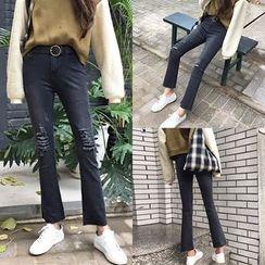 Jeans Kingdom - 仿旧靴型牛仔裤