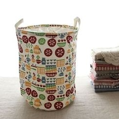Timbera - Print Canvas Laundry Basket