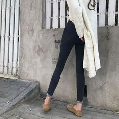 Jeans Kingdom - Rolled Skinny Jeans