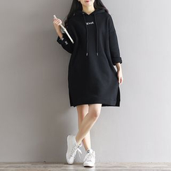 Fancy Show - Embroidery Hooded Pullover Dress