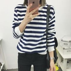 Lovebirds - Long-Sleeve Striped Top