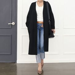 DANI LOVE - Open-Front Slit-Side Long Coat