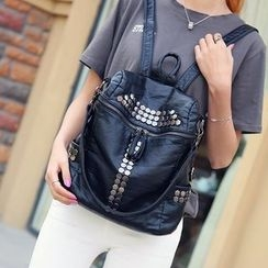 ETUU - Studded Faux Leather Backpack