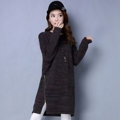 Romantica - Side-Zip Melange Knit Dress