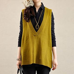 Yammi - V-Neck Knit Vest