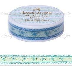 Aimez le style - Aimez le style Masking Tape Primaute Regular Floral Frill Green