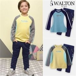 WALTON kids - Boys Set: Lettering T-Shirt + Sweatpants