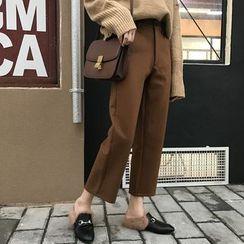 Dute - 短款寬腿西褲