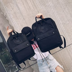 OUCHA - Front Pocket Canvas Backpack