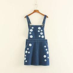Mushi - Denim Jumper Skirt