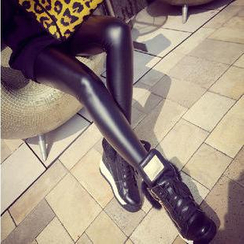 Hyoty - 人造皮窄身内搭裤