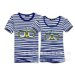 Panna Cotta - Couple Matching Striped Short-Sleeve T-Shirt