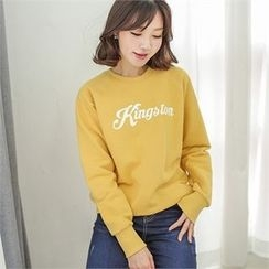 Styleberry - Raglan-Sleeve Lettering Pullover