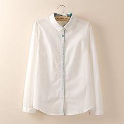 Tangi - Contrast Trim Shirt