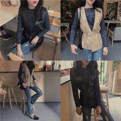 Tiny Times - Faux Leather Vest
