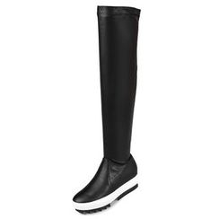 Gizmal Boots - Platform Over-the-Knee Boots