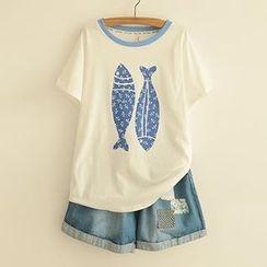 白金天使 - 印花T恤