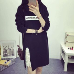 Sheeno - Lace Panel Pullover Dress