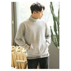 HOTBOOM - Cotton Turtleneck Pullover