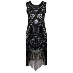 Charlotte - Sleeveless Fringed Sequined Sheath Dress