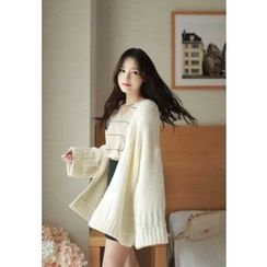 MyFiona - Open-Front Loose-Fit Cardigan