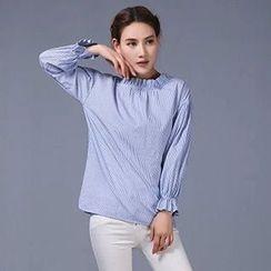 Neeya - 泡泡袖長袖上衣