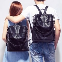 AIDO - Genuine Leather Two-Way Backpack