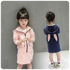 Rakkaus - Set: Kids Hooded Jacket + Skirt