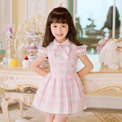 Candy Rain - Kids Sleeveless Check Pleated Dress
