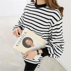 PEPER - Dip-Back Striped T-Shirt