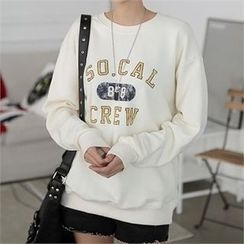 CHICFOX - Long-Sleeve Lettering Pullover