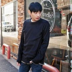 TOMONARI - Crew-Neck Colored Polar-Fleece T-Shirt
