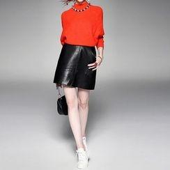 Alaroo - Faux Leather Mini Skirt