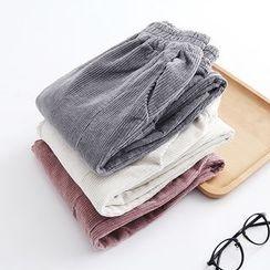 Piko - Plain Corduroy Pants