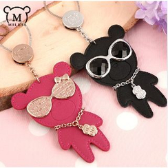 MILESI - Couple Rhinestone Animal Keychain