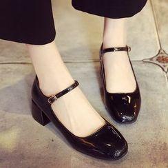 南在南方 - 粗跟玛莉珍高跟鞋