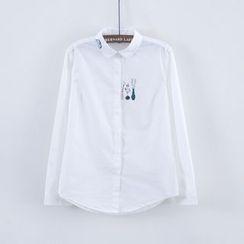 幾米寶兒 - 長袖印花襯衫