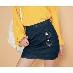 HOTPING - Denim Pencil Skirt