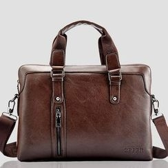 ROI - Faux-Leather Briefcase