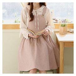 Sechuna - A-Line Suspender Dress