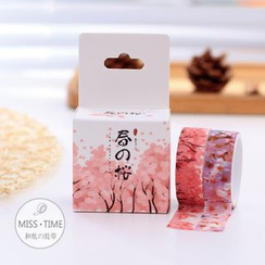 Cute Essentials - Set of 2 : Sakura Printed Masking Tape